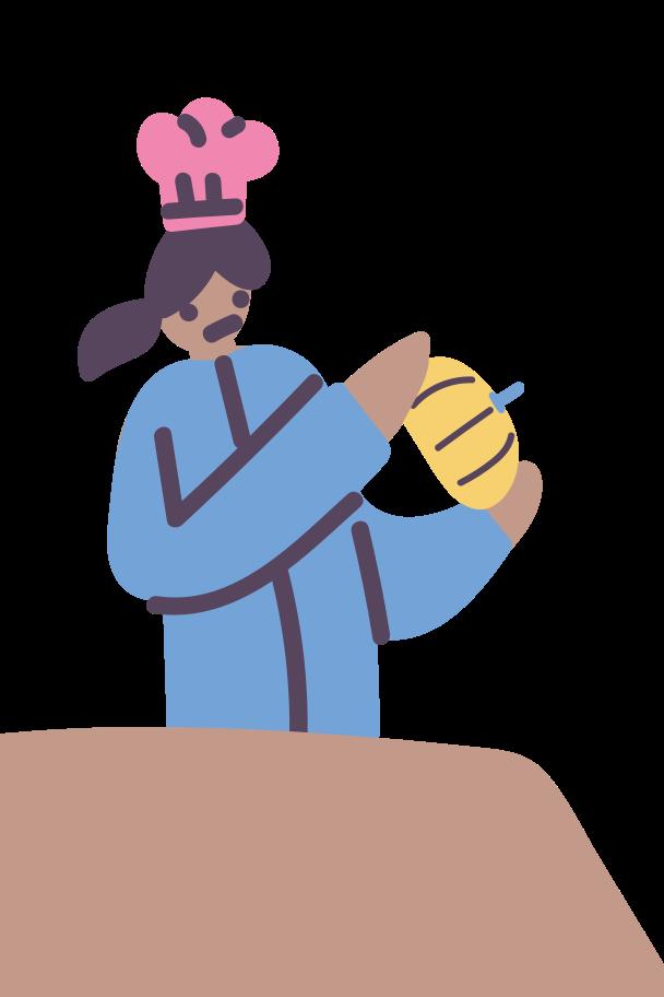 Ilustración de clipart de cocinar una calabaza en PNG, SVG