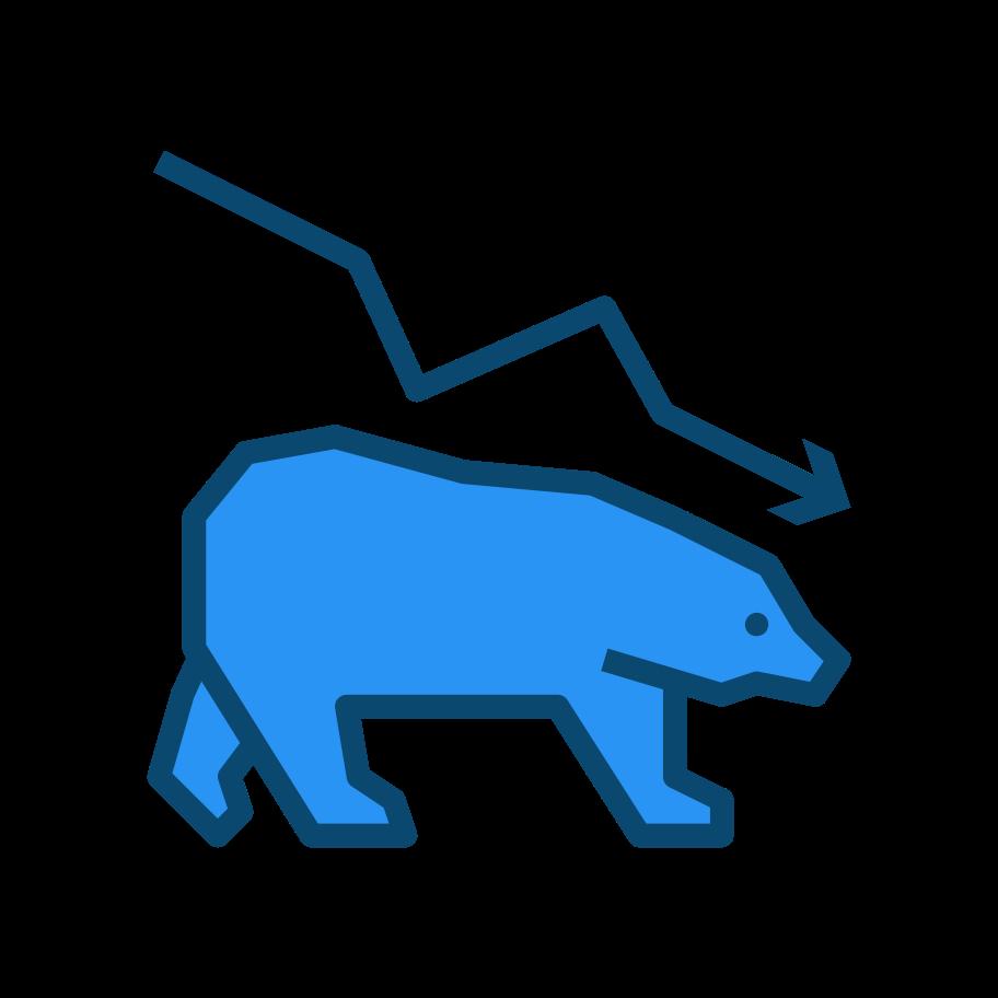 Bear market Clipart illustration in PNG, SVG