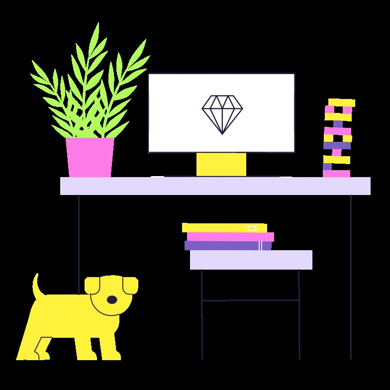 Workspace Clipart illustration in PNG, SVG
