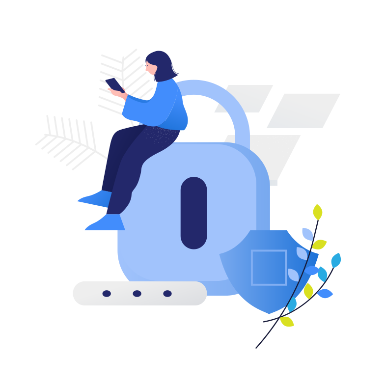 Data protection  Clipart illustration in PNG, SVG