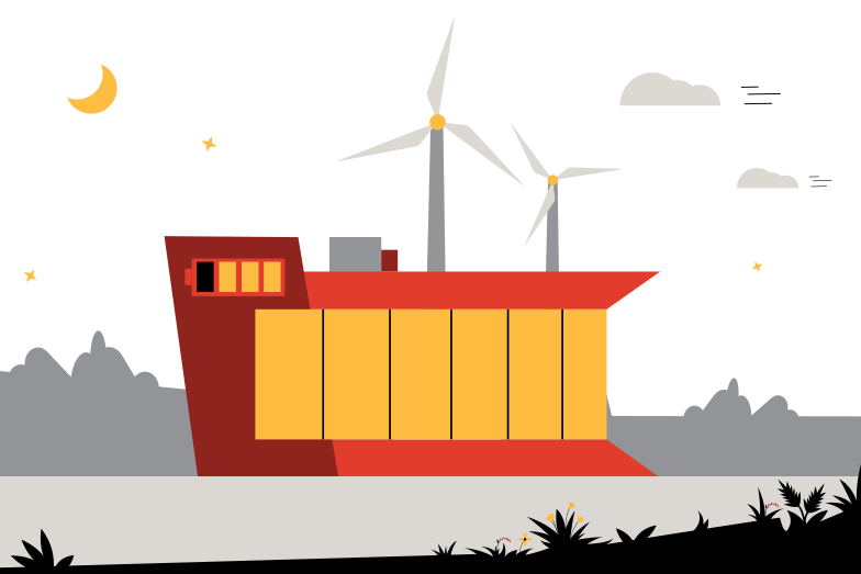 Eco-house Clipart illustration in PNG, SVG