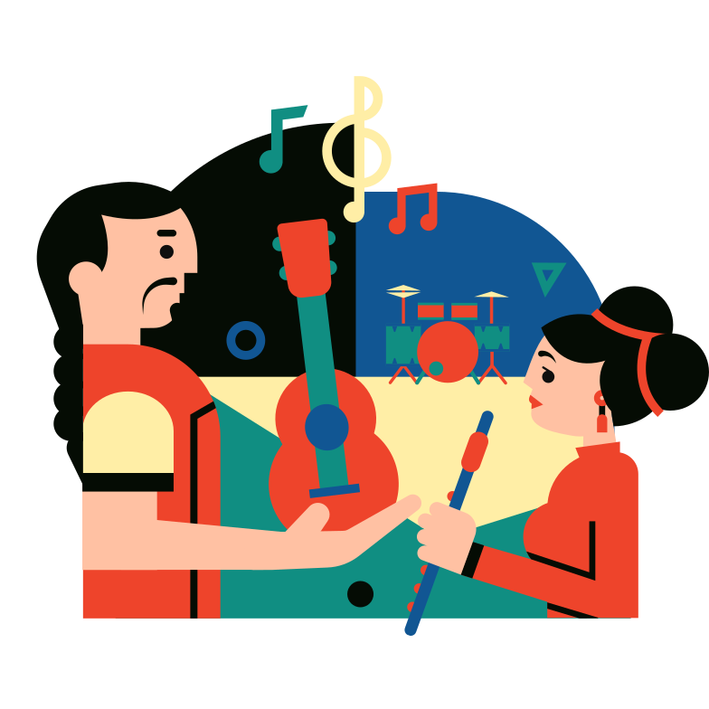 Musical group Clipart illustration in PNG, SVG