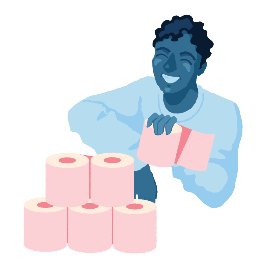 Toilet paper tower Clipart illustration in PNG, SVG