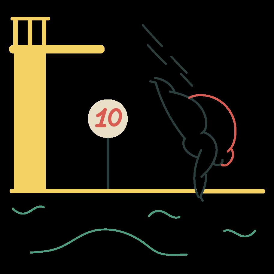 Diving Clipart illustration in PNG, SVG