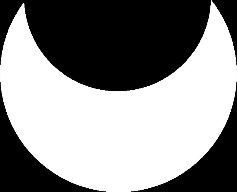 crescent white Clipart illustration in PNG, SVG