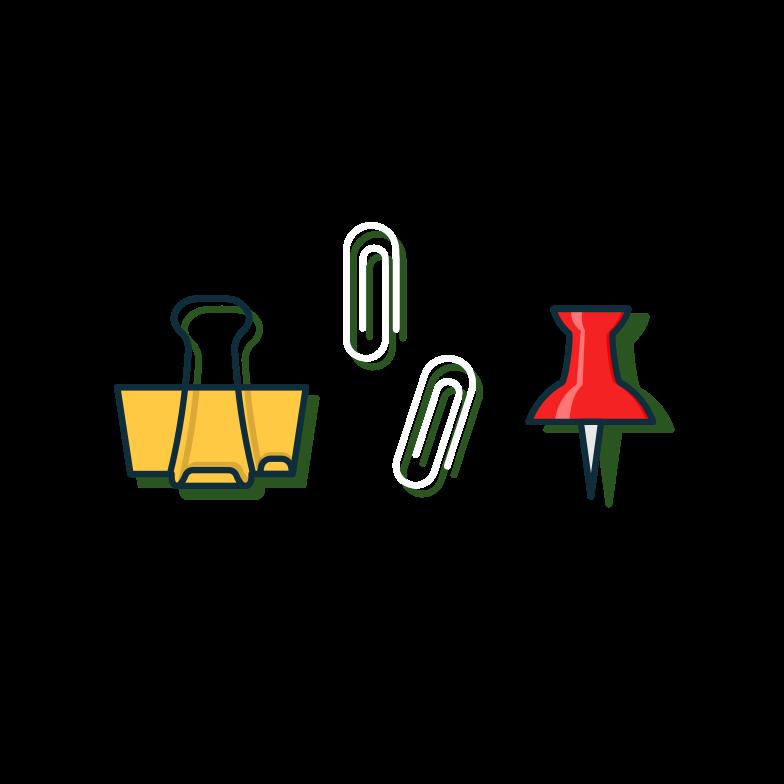 PNGとSVGの  スタイルの 文房具セット ベクターイメージ | Icons8 イラスト