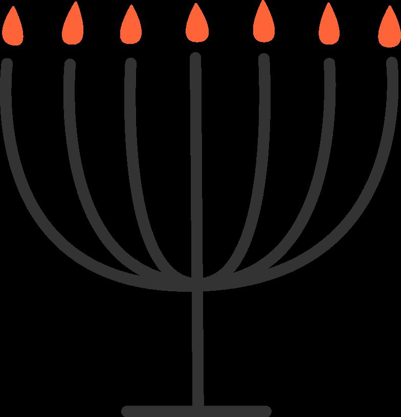 menorah Clipart illustration in PNG, SVG
