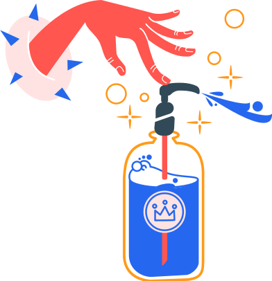 style antiseptic and left hand images in PNG and SVG | Icons8 Illustrations