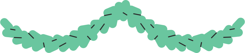 pine garland Clipart illustration in PNG, SVG