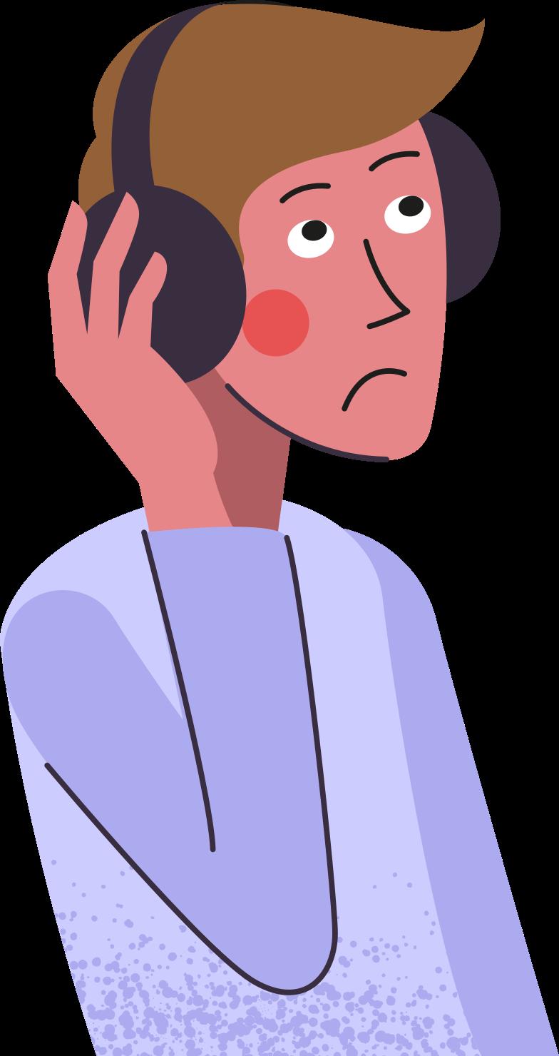 man-in-headphones Clipart illustration in PNG, SVG