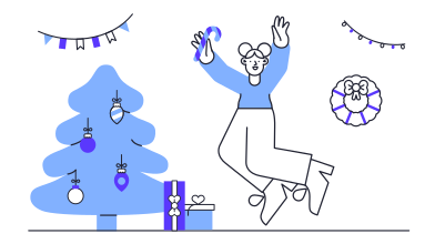 style Happy Christmas images in PNG and SVG | Icons8 Illustrations