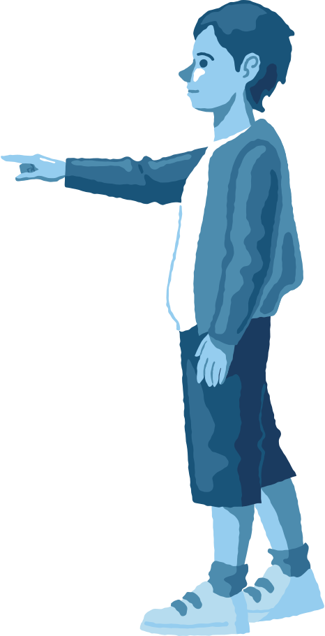 style boy pointing profile Vector images in PNG and SVG   Icons8 Illustrations