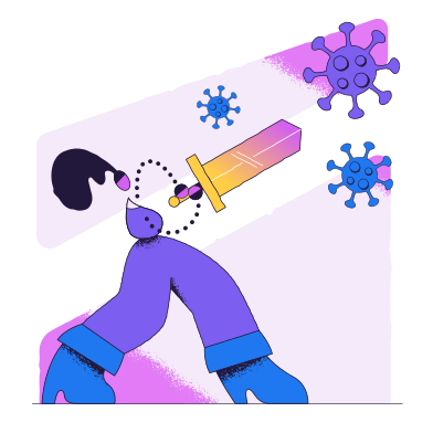 style Fighting the virus images in PNG and SVG | Icons8 Illustrations
