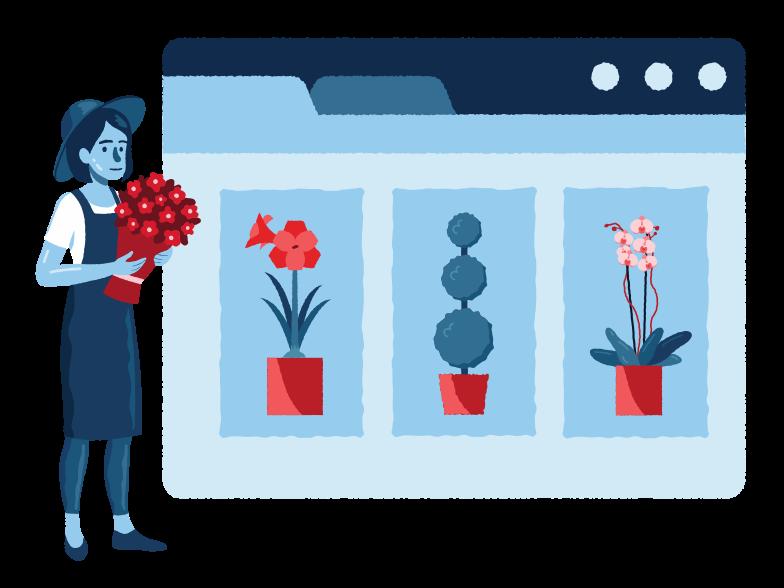 Online plants website Clipart illustration in PNG, SVG