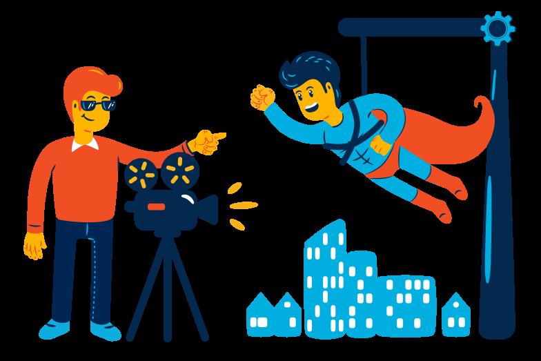 Film shooting Clipart illustration in PNG, SVG