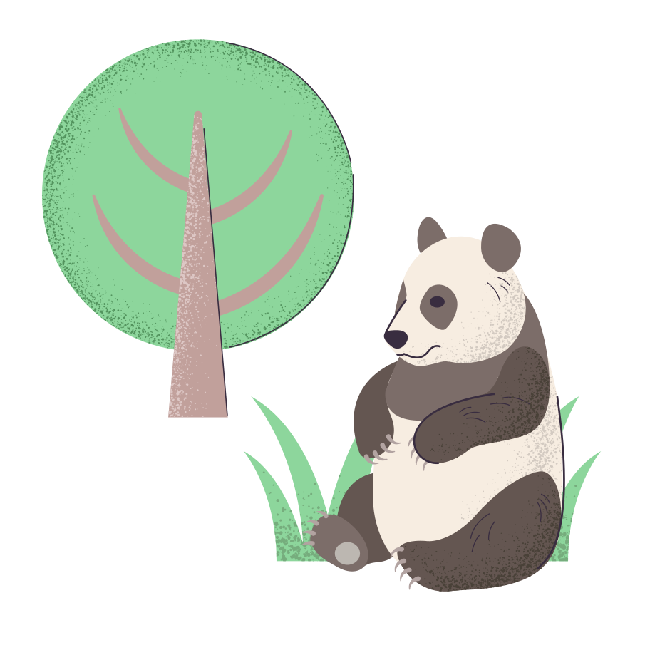 style Panda under the tree Vector images in PNG and SVG | Icons8 Illustrations