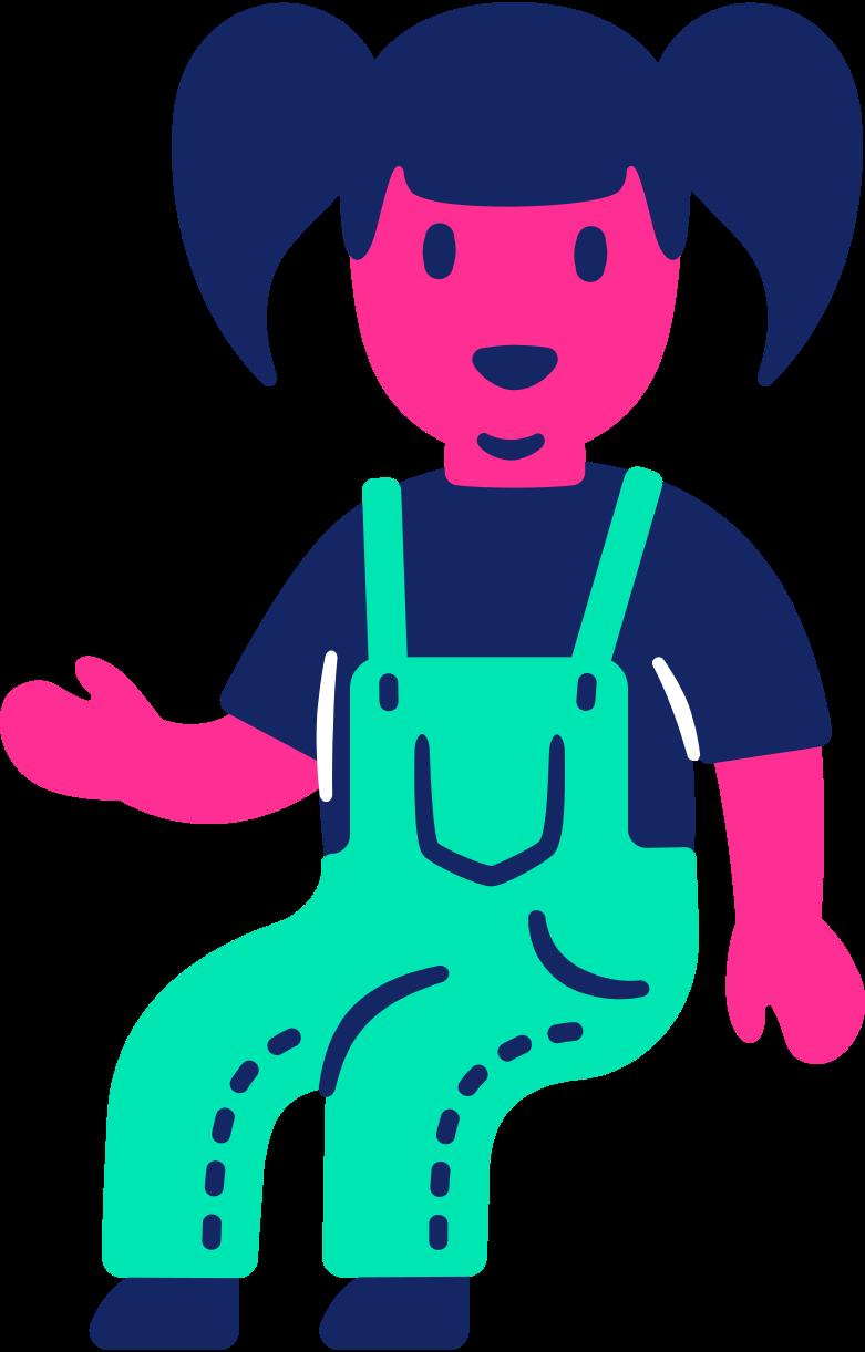 child sitting Clipart illustration in PNG, SVG