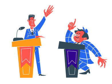 style Politicians debating images in PNG and SVG | Icons8 Illustrations