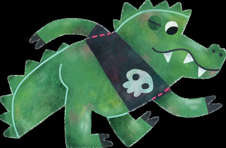 Клипарт Крокодил в PNG и SVG