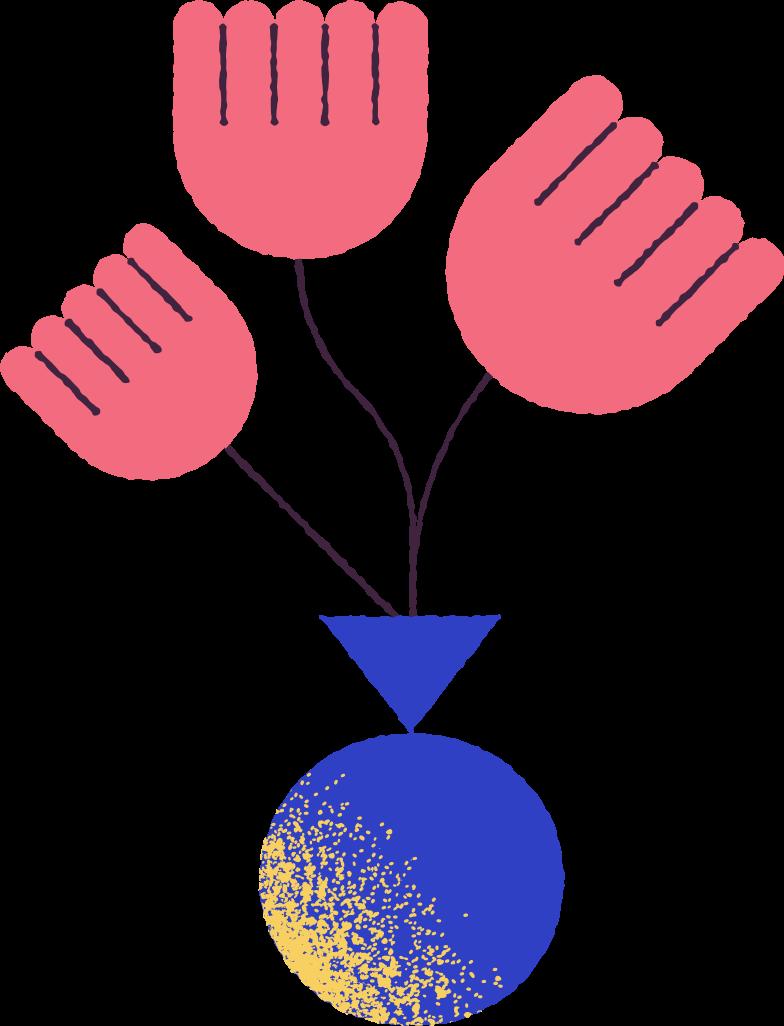 flowers in vase Clipart illustration in PNG, SVG