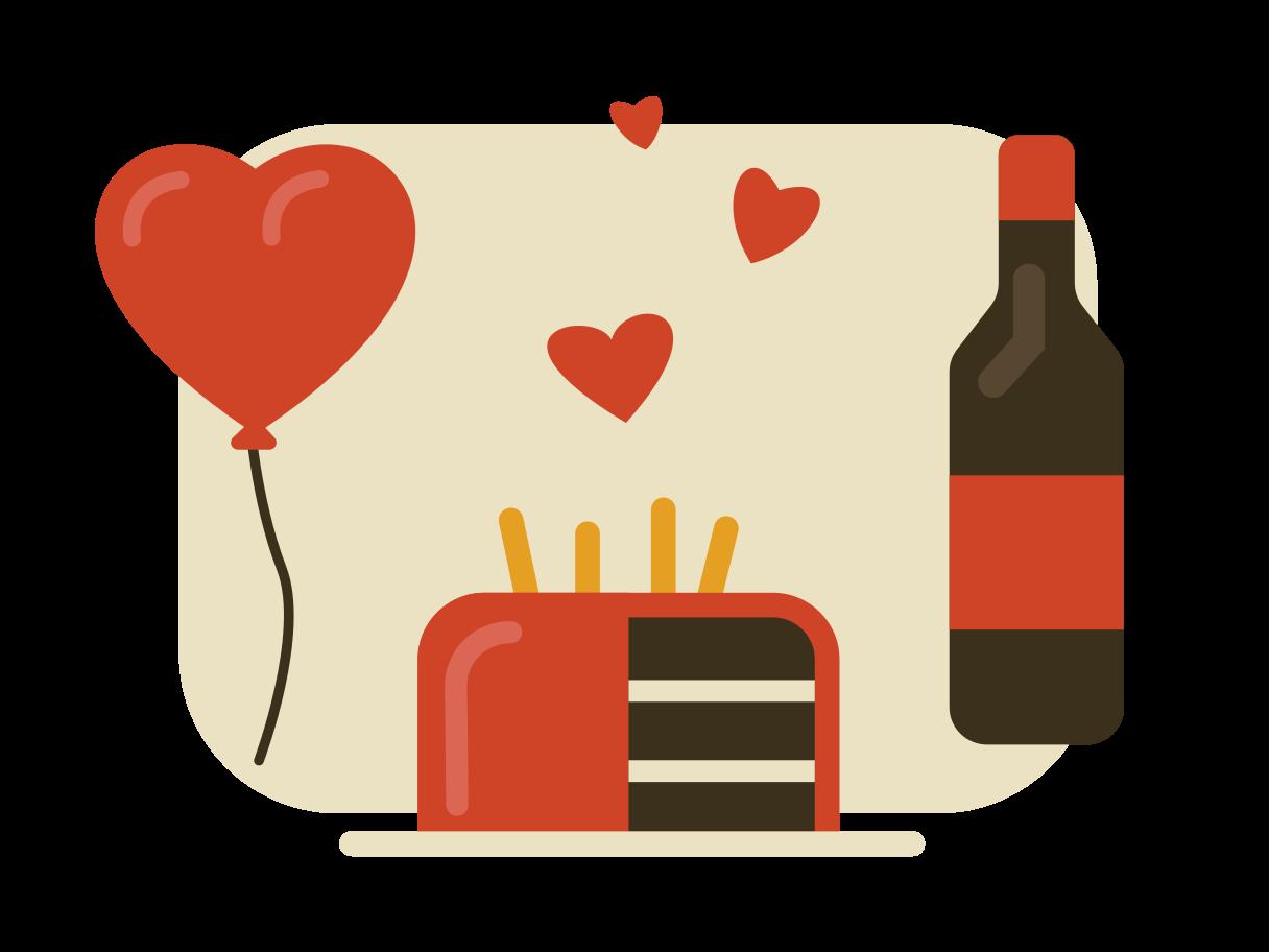 Ilustración de clipart de celebracion san valentin en PNG, SVG