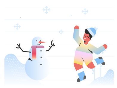 style Playing in snow images in PNG and SVG | Icons8 Illustrations