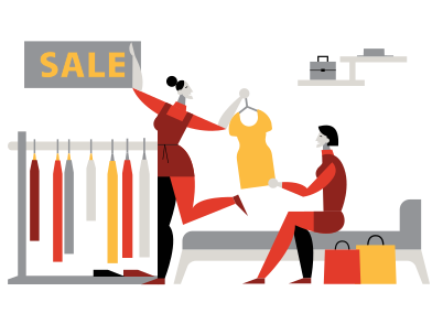 style Faire du shopping avec un ami images in PNG and SVG | Icons8 Illustrations