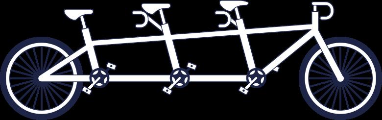 tandem bycicle line Clipart illustration in PNG, SVG