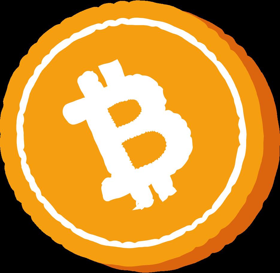 Ilustração de clipart de bitcoin em PNG e SVG