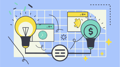 style Great ideas lead to great money images in PNG and SVG | Icons8 Illustrations