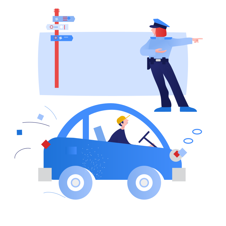 Traffic controller Clipart illustration in PNG, SVG