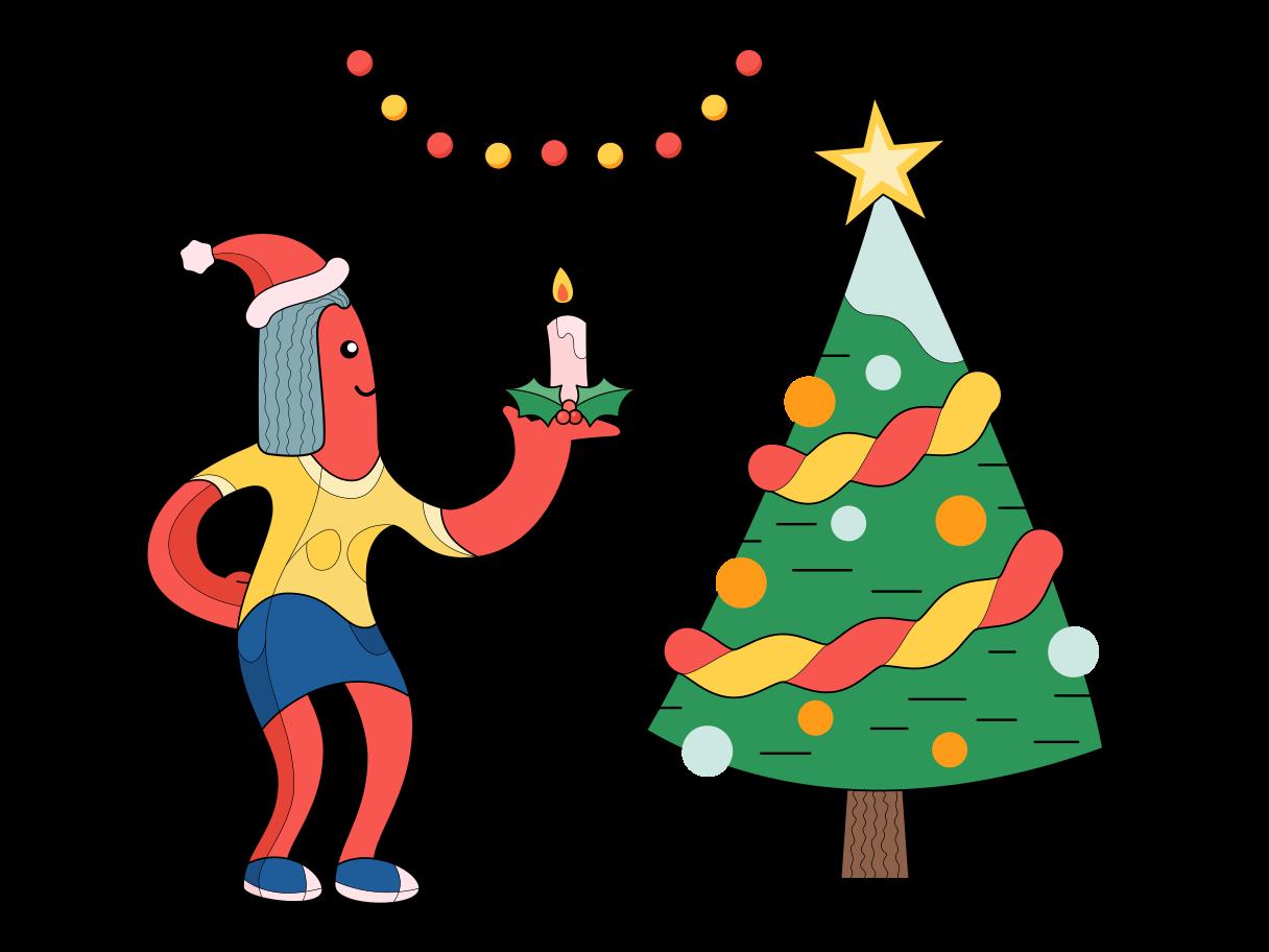 Ilustración de clipart de Humor navideño en PNG, SVG