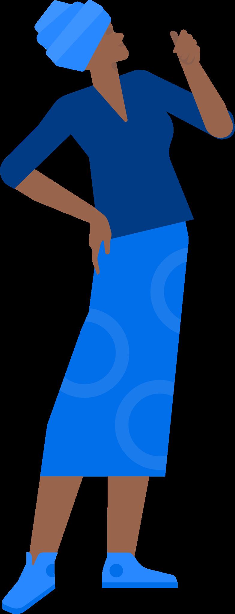 Ilustración de clipart de mujer con turbante en PNG, SVG