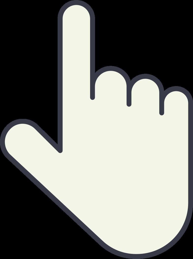 one finger Clipart illustration in PNG, SVG