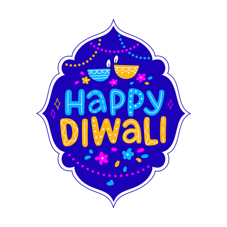 style happy diwali diya lamp frame Vector images in PNG and SVG | Icons8 Illustrations