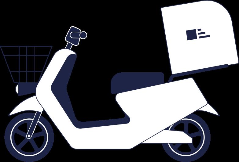 motorbike delivery Clipart illustration in PNG, SVG