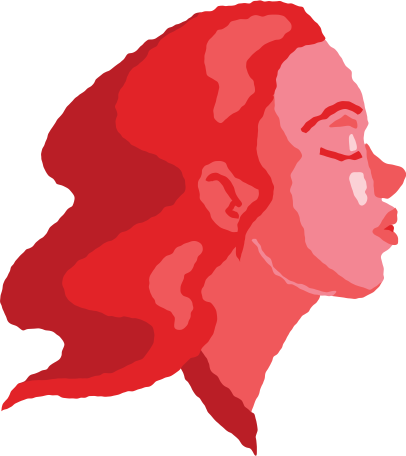 woman head air kiss Clipart illustration in PNG, SVG