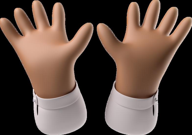 open hands Clipart illustration in PNG, SVG
