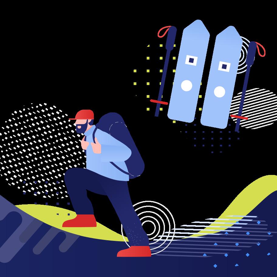 Traveler Clipart illustration in PNG, SVG