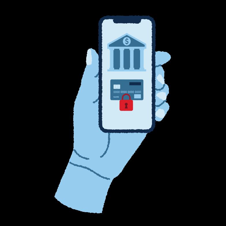 Illustration clipart Services bancaires en ligne aux formats PNG, SVG