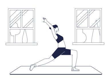 style Yoga at home images in PNG and SVG | Icons8 Illustrations