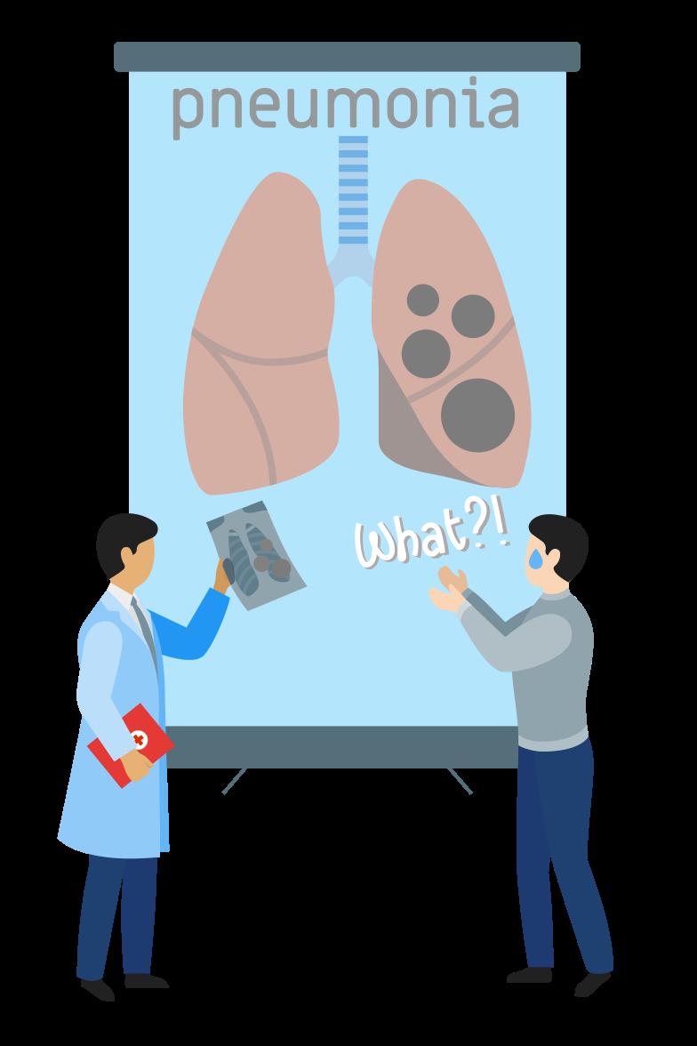 Diagnose: pneumonia Clipart illustration in PNG, SVG