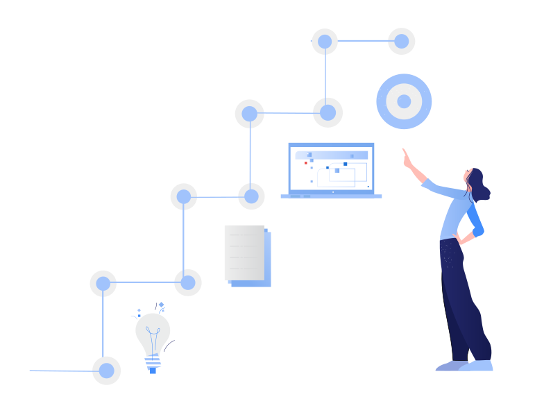Idea to realisation: project management Clipart illustration in PNG, SVG