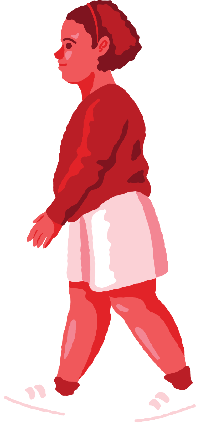chubby girl walking Clipart illustration in PNG, SVG