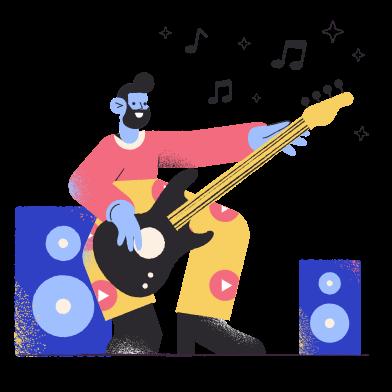 Иллюстрация музыкант в стиле  в PNG и SVG   Icons8 Иллюстрации