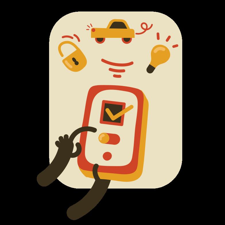 Illustration clipart Contrôle intelligent aux formats PNG, SVG