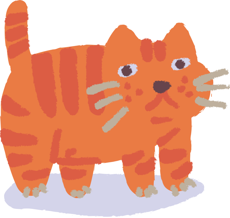 cat standing Clipart illustration in PNG, SVG