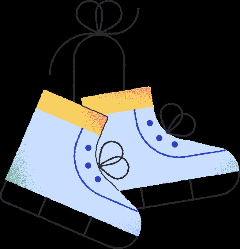 ice skates Clipart illustration in PNG, SVG