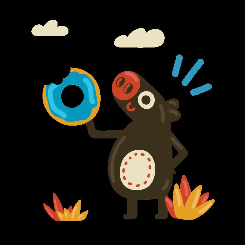 ドーナツ のPNG、SVGクリップアートイラスト