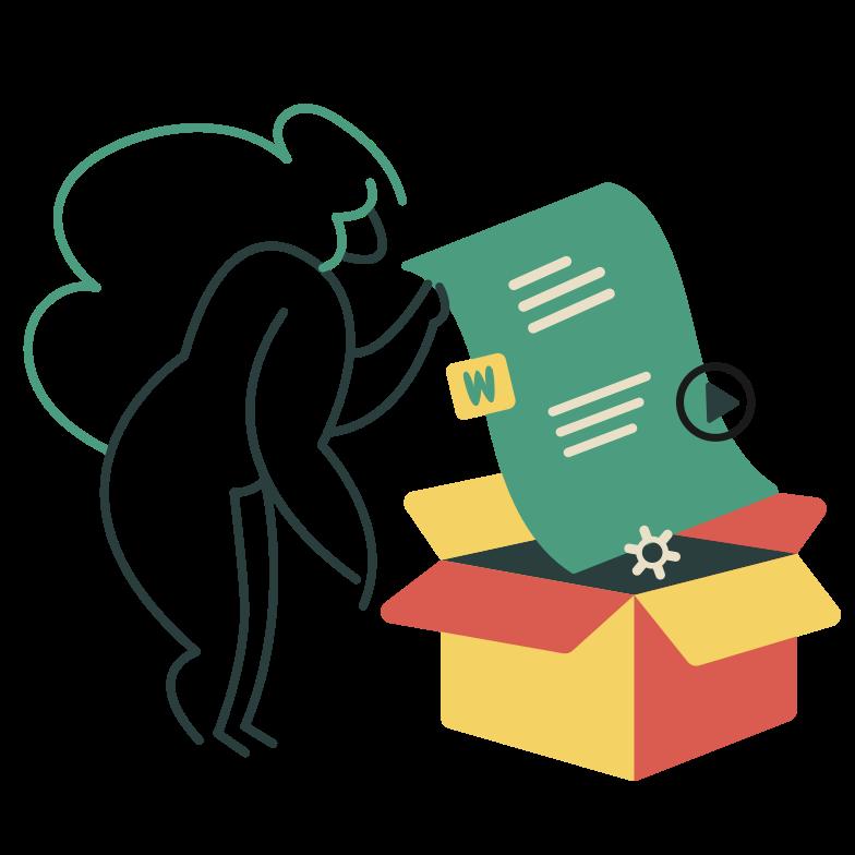 Клипарт Пакетное программное обеспечение в PNG и SVG